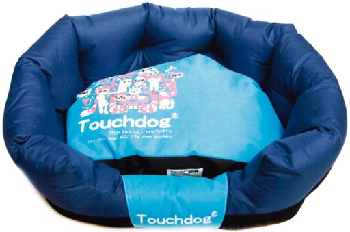 baskets-for-dogs-touchdog-blue-bed